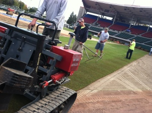 Laying New Grass at McCoy, 10-25-12