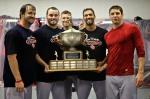 The PawSox starting rotation left to right: Steven Wright, Chris Hernandez, Billy Buckner, Nelson Figueroa, Zach Stewart.