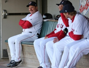 Arnie was all smiles after guiding the PawSox to their first Governors' Cup championship in 28 years. (Kelly O'Connor)