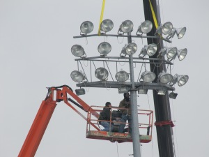 New McCoy Stadium Lights, 1-9-13