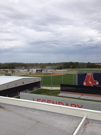 A view from the Green Monster of the backfields
