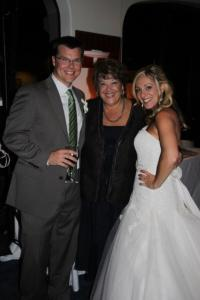 My mom with my wife and I at our wedding. Proud Mama!