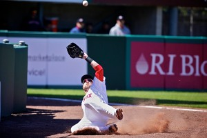 Bryce Brentz made a sensational sliding catch Saturday