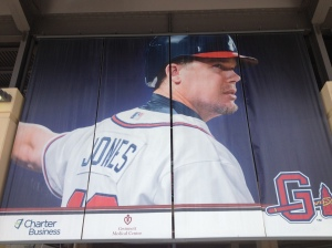 Chipper Jones, maybe the second most famous Atlanta Brave ever