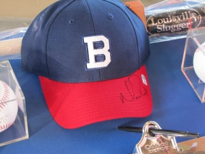 Signed Boston Braves cap