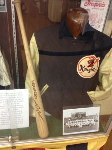 "Knights letterman jacket with 1 of only 7 ""Wonderboy"" bats ever made"