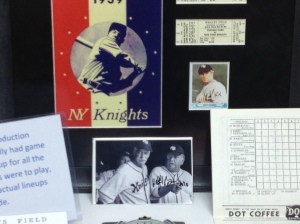 Authentic game programs were printed for filming, even though they listed Hobbs in LF (he played RF in the movie)