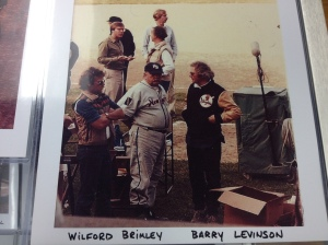 Wilford Brimley with Director Barry Levinson