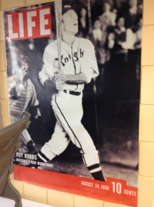 The cover of LIFE magazine with Roy Hobbs on the cover
