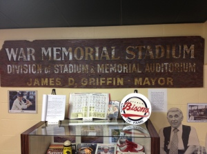 War Memorial Stadium  sign