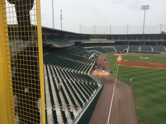 only 315 feet down the right field line...enticing for left handed power bats
