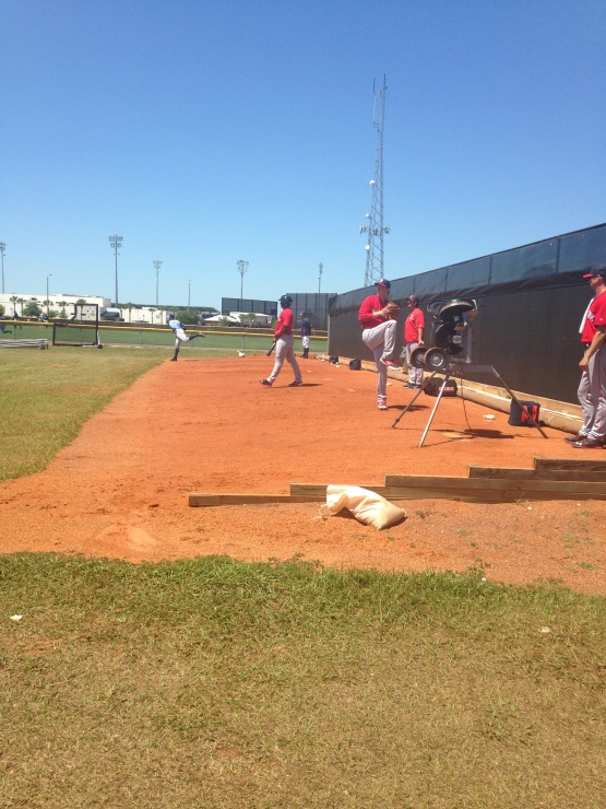 Henry Owens getting loose before his start on Monday
