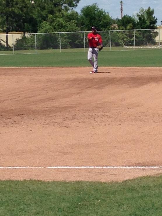 Yoan Moncada played second base behind Joe Kelly Wednesday