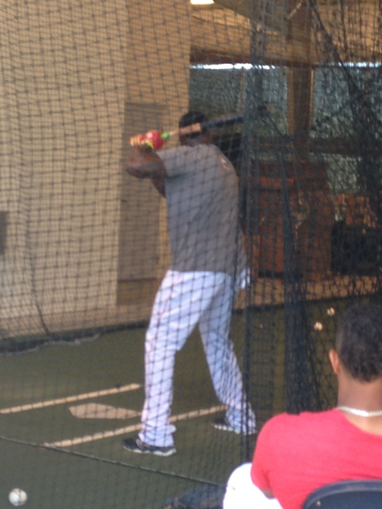 David Ortiz could be seen - and heard - Wednesday morning