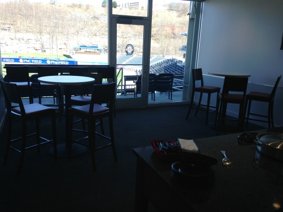 A bevy of menu options are just one of the many amenities in PNC's suites