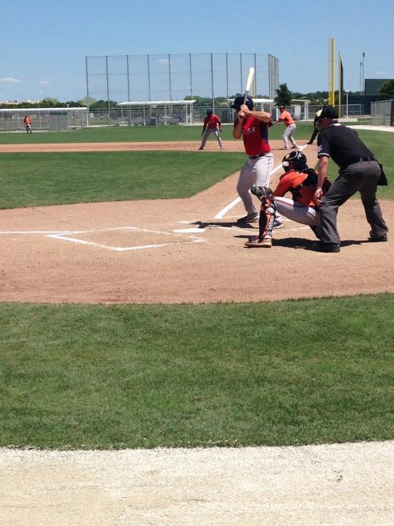 Blake Swihart preparing to demolish a ball to left field