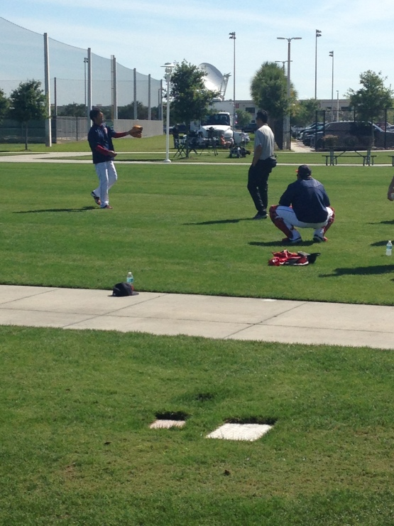 Another light throwing session for Koji Uehara on Wednesday morning