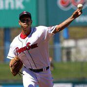 Eddie Rodriguez pitching