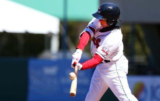 Marco Hernandez hitting ball