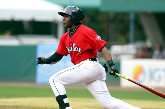 Rusney Castillo swinging in Red